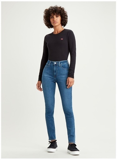 Levi's® 188820388 721 High Rise Skinny 1.5 Lapis Yüksek Bel Dar Paça Kadın Jean Pantalon İndigo